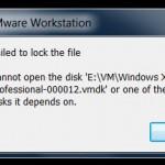 ошибка запуска виртуальной машины VMware